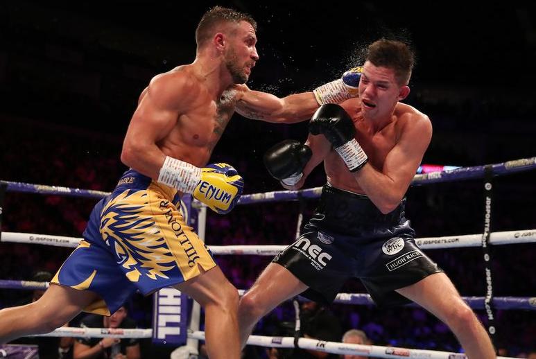Vasyl Lomachenko fighting against Luke Campbell