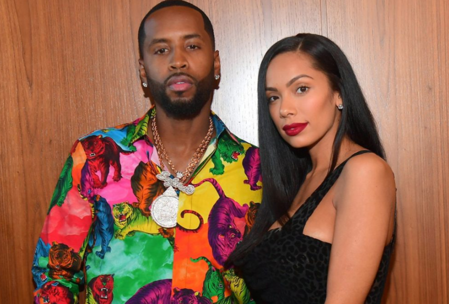 Erica Mena with her husband, Safaree Samuels