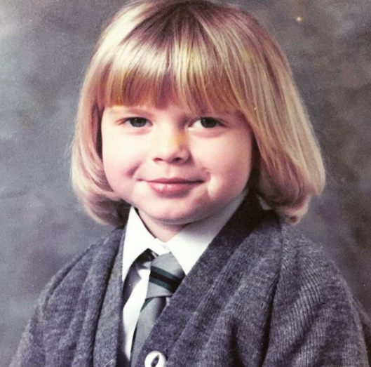 Childhood Picture of Rachel Riley