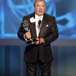 William Shatner with award