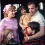 William Shatner with his first wife, Gloria Rand and their kids