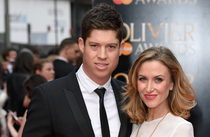 Katherine Kelly with her husband, Ryan Clark