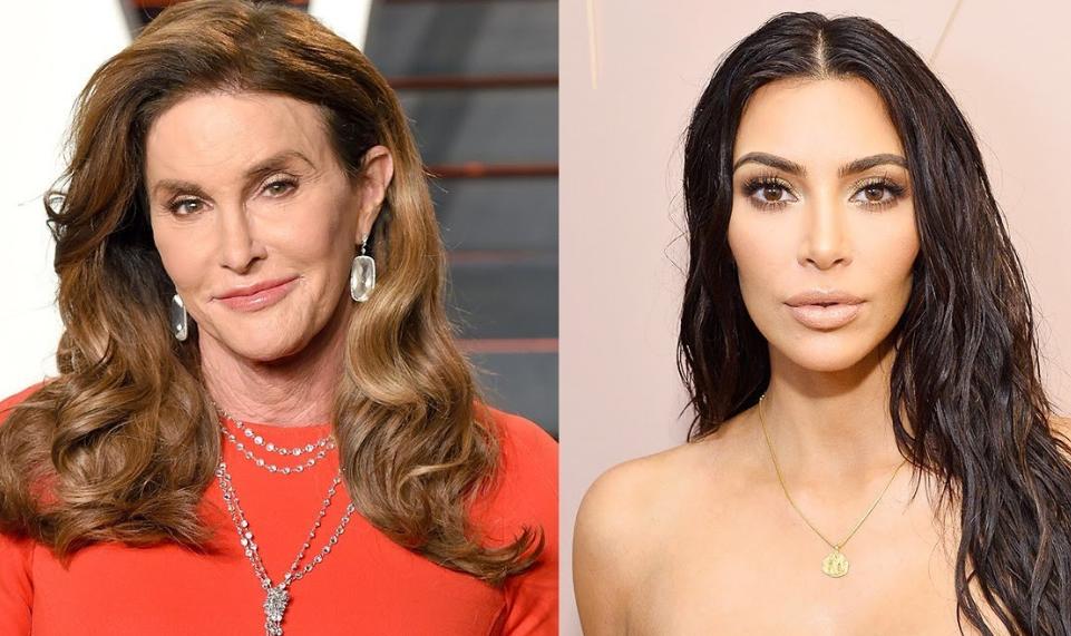 Caitlyn Jenner (Left) And Kim Kardashian (Right)