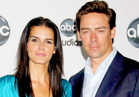 Angie Harmon With Her Ex-Husband