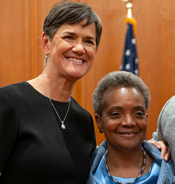 Lori Lightfoot With Her Partner, Amy