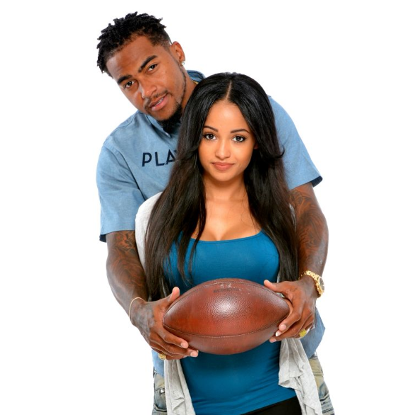 DeSean Jaacckson with hs girlfriend, Kayla