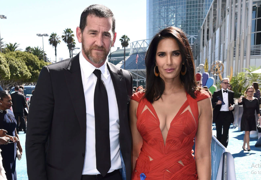 Padma Lakshmi with her ex husband, Adam Dell