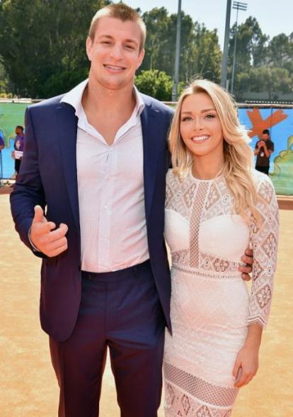 Rob Gronkowski With His Girlfriend Camille Kostek
