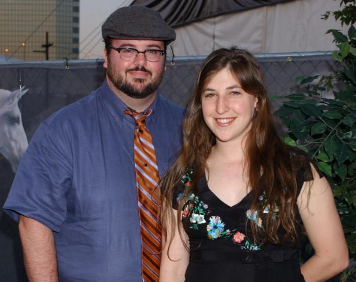 Mayim Bialik and her ex-husband, Michael Stone