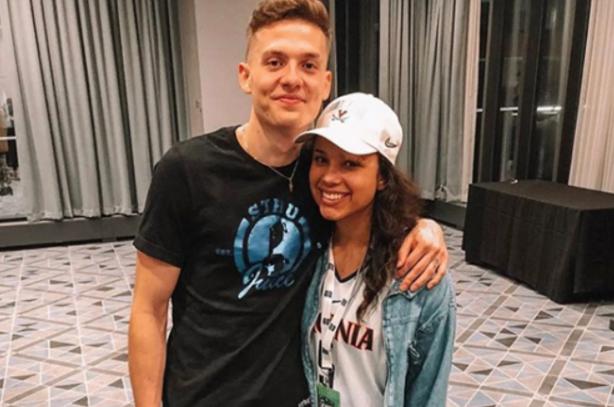 Kyle Guy and his fiancee, Alexa Jenkins