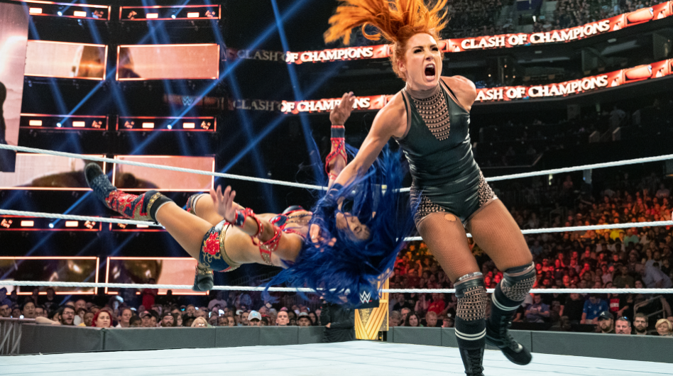 Becky Lynch against the opponent