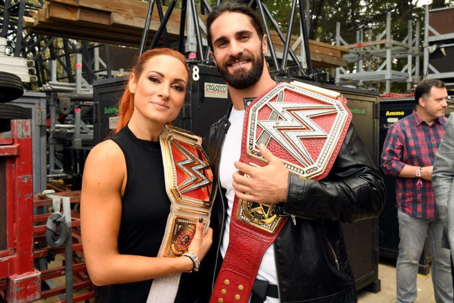 Becky Lynch with her fiancee Colby Lopez (Seth Rollins)