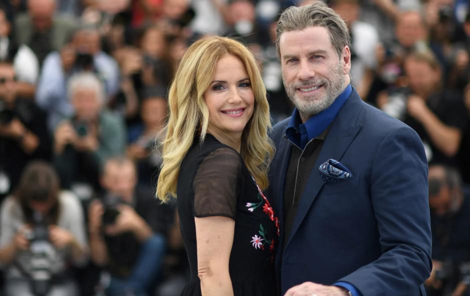 Kelly Preston with her husband, John Travolta