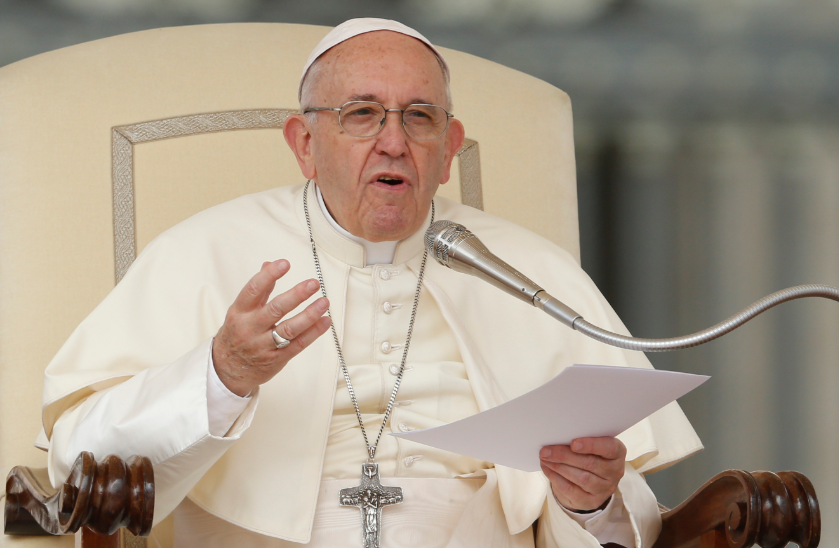 Pope Francis Speeching