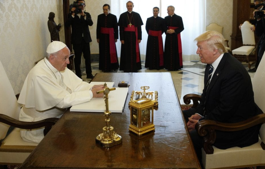 Pope Francis With Donald Trump, President of the USA