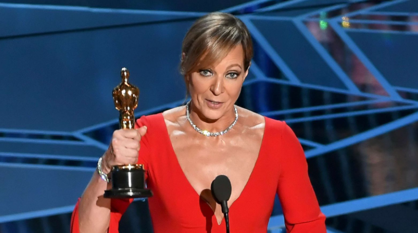 Allison Janney with award