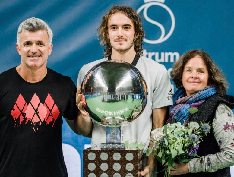 Stefanos Tsitsipas parents