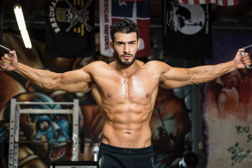 Sam Asghari, a model and fitness trainer