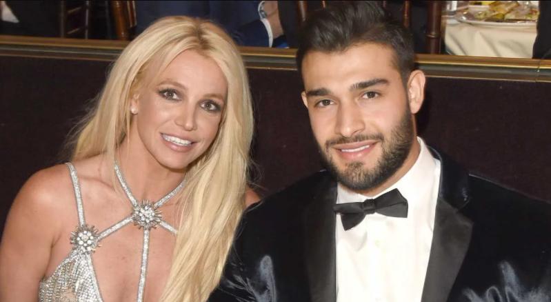 Sam Asghari and Britney Spears