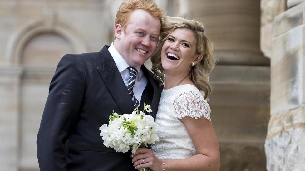 Sarah Harris and her husband, Tom Ward
