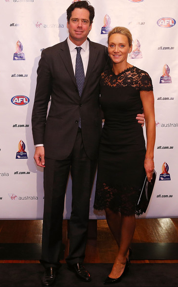 Gillon McLachlan With His Wife, Laura McLachlan