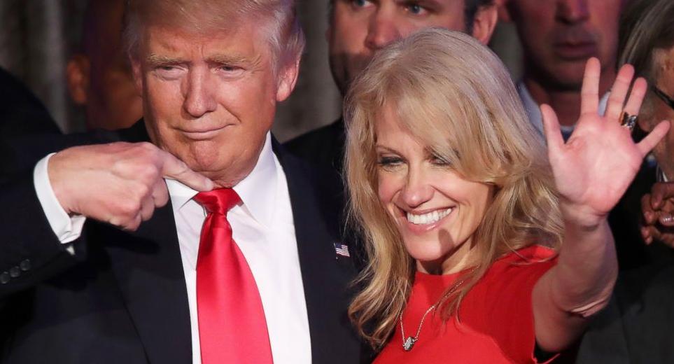 Kellyanne Conway With President Donald Trump