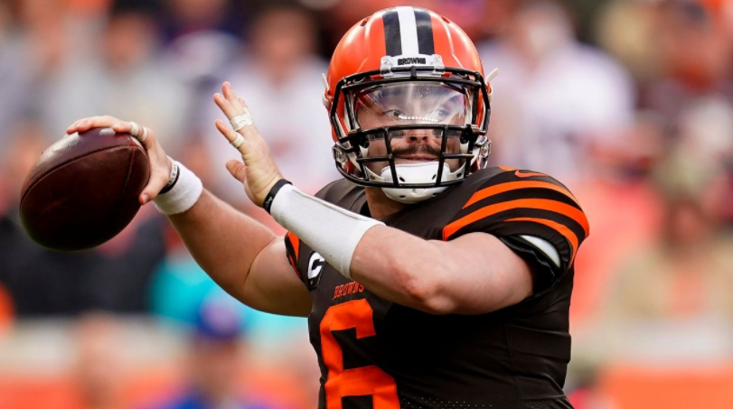 Baker Mayfield, a football quarterback for Cleveland Browns