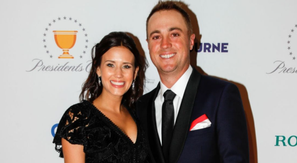 Justin Thomas With His Girlfriend, Jullian