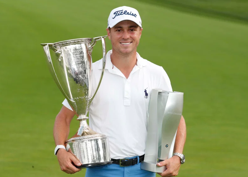 Justin Thomas With Trophy