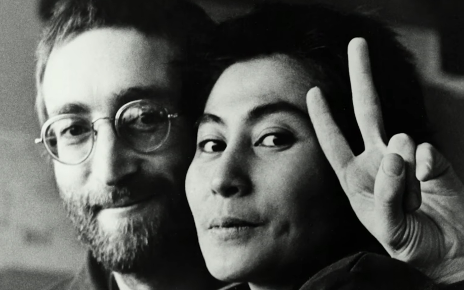John Lennon With His Wife Yoko