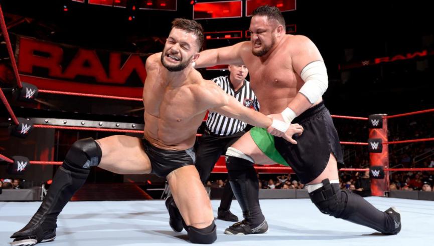 Professional wrestler, Samoa Joe against Finn Balor