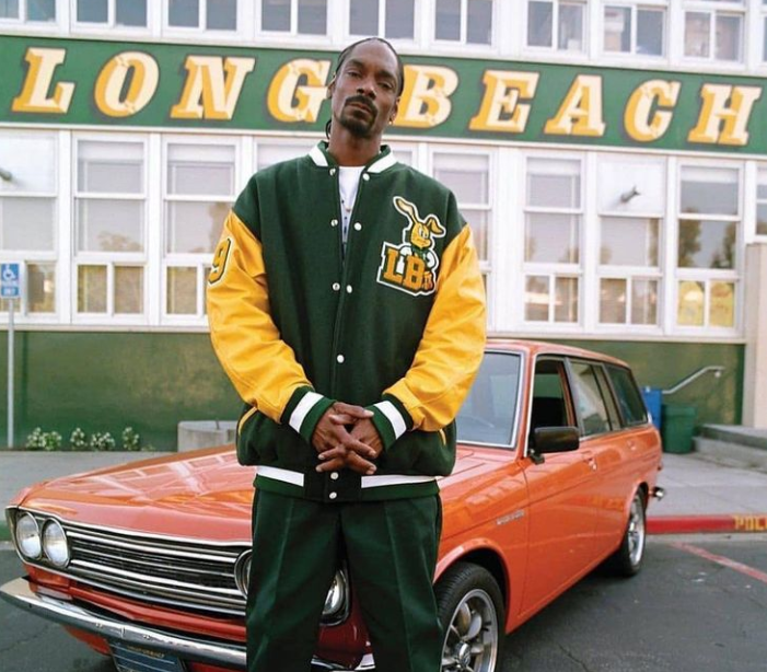 Snoop Dogg in his birthplace, Long Beach
