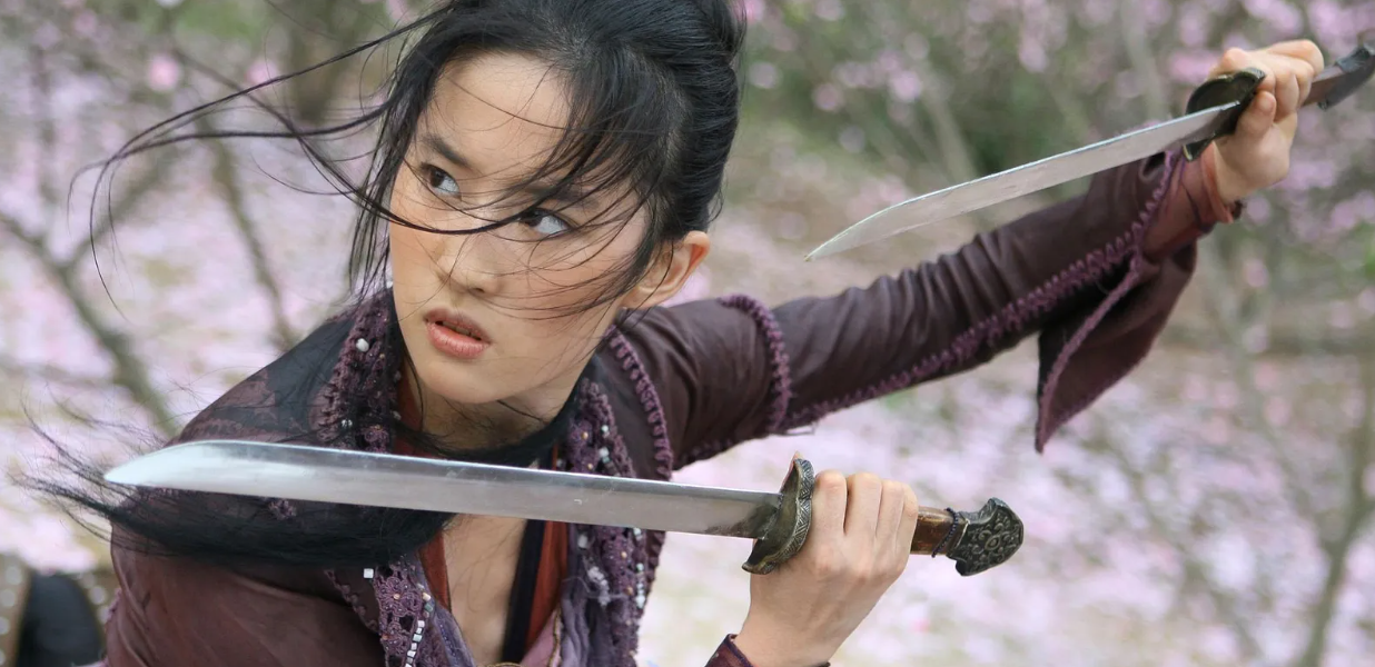 Liu Yifei in the movie The Forbiden Kingdom