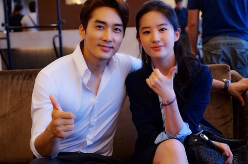 Liu Yifei with her ex-boyfriend Song Seung Hun