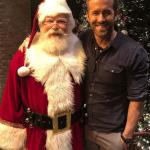 Ryan Reynolds With Santa