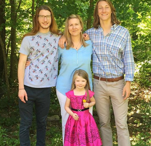 Trevor Lawrence With His Family
