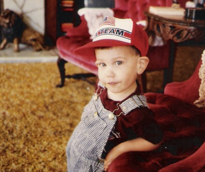 Mat Best at the age of three