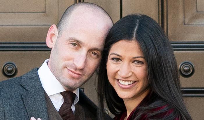 Katie Waldman with her husband, Stephen Miller