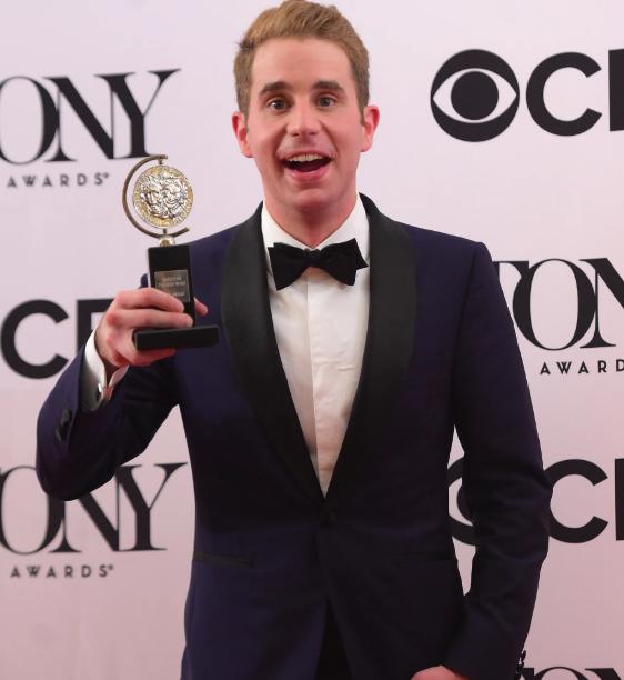 Ben Platt with Award