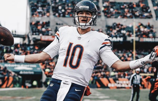 Mitchell Trubisky Celebrating After The Score