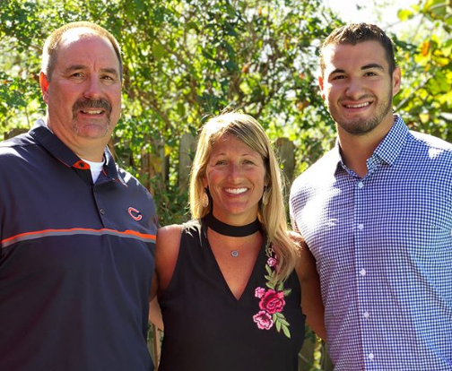 Mitchell Trubisky With His Parents