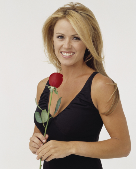 Beautiful Trista Sutter With Red Rose