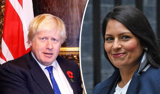 Boris Johnson (Left) and Priti Patel (Right)