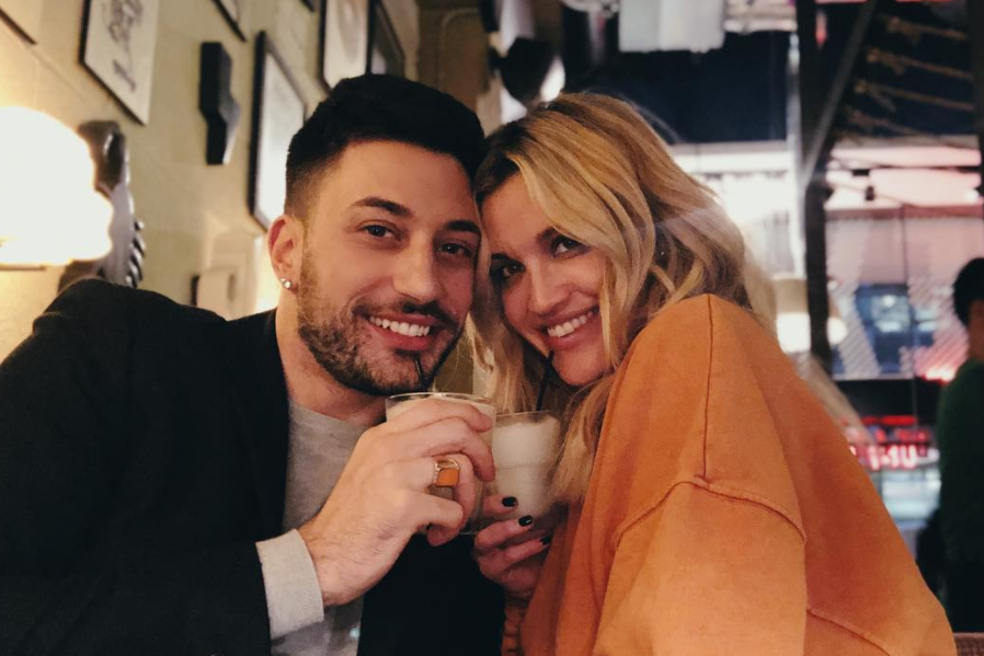 Giovanni Pernice with her ex-girlfriend, Ashley Roberts