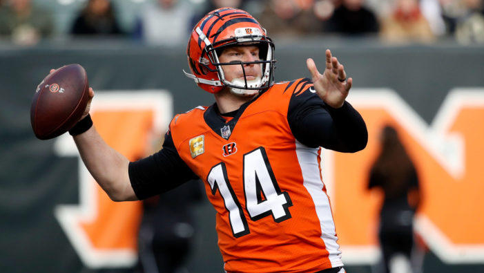 Andy Dalton, a famous football quarterback