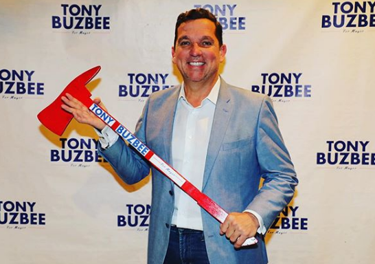 Tony Buzbee Holding Axe