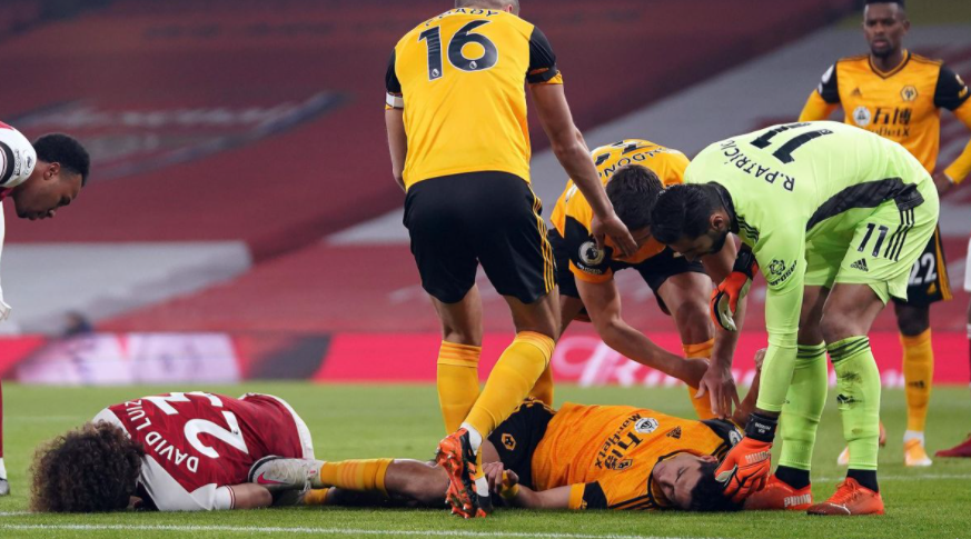 Wolves' Raul Jimenez is recovering in hospital after fracturing his skull