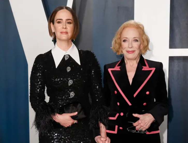 Sarah Paulson with her girlfriend, Holland Taylor