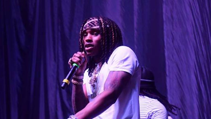 King Von singing in stage