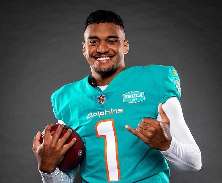 Tua Tagovailoa, quarterback for Miami Dolphin